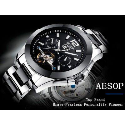 c2482348 Мужские элитные механические часы с автоподзаводом Aesop Level (23 камня,  Япония) маятник
