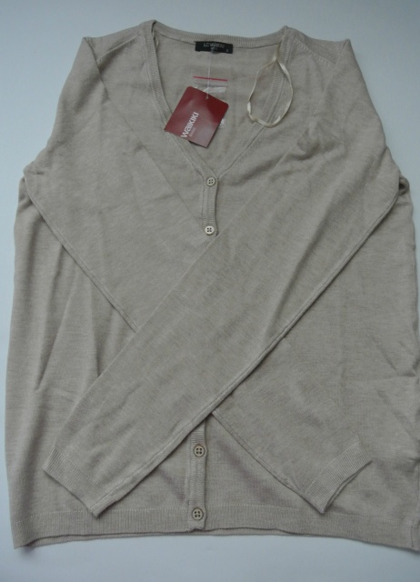 d29b8645260 16-163 LCW Женская кофта   одежда Турция   свитер   кардиган   женская  одежда   свитер. Женская кофта LC Waikiki Цвет - бежевый Размер S Материал   83% ...