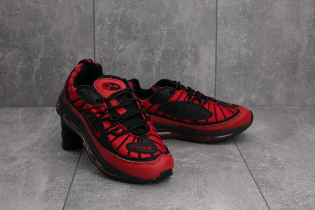 622d1a9c Кроссовки В 359-22 (Nike Air Max 98 x Supreme) (весна-осень, женские,  резина, красно-черный)