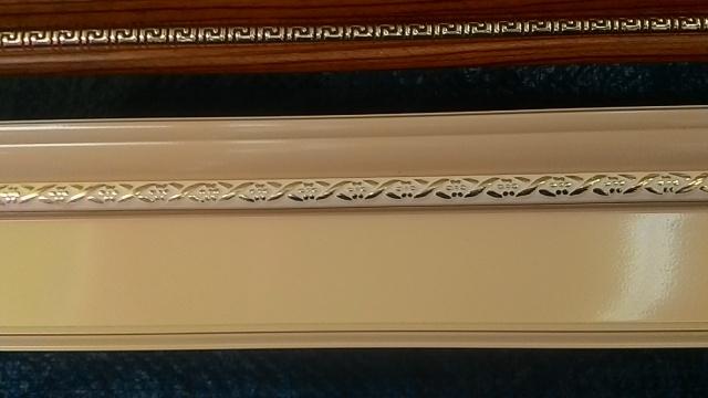 алюминиевый карниз тройной 020. Цвет «Бежевый»
