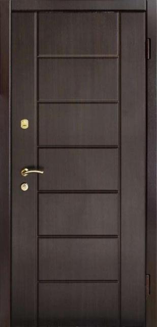 Двери входные из металла,накладка МДФ+накладка МДФ,один лист металла.