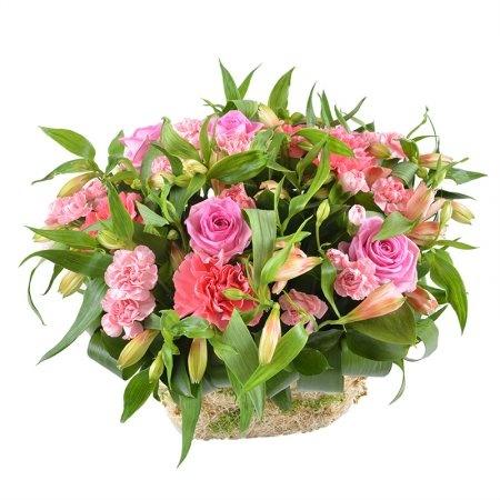 Цветочная композиция «Розовое счастье»