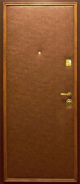 Двери входные из металла,Кож винил+Кож винил,два листа металла.