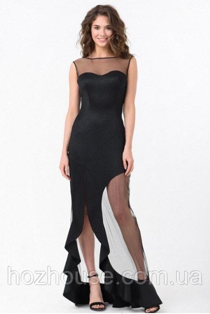 34791f71a46 Вечернее платье Rica Mare с асимметричной юбкой и сеткой  продажа ...