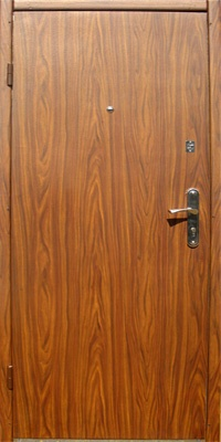 Двери входные из металла,МДФ накладка + пленка ПВХ,один лист металла.