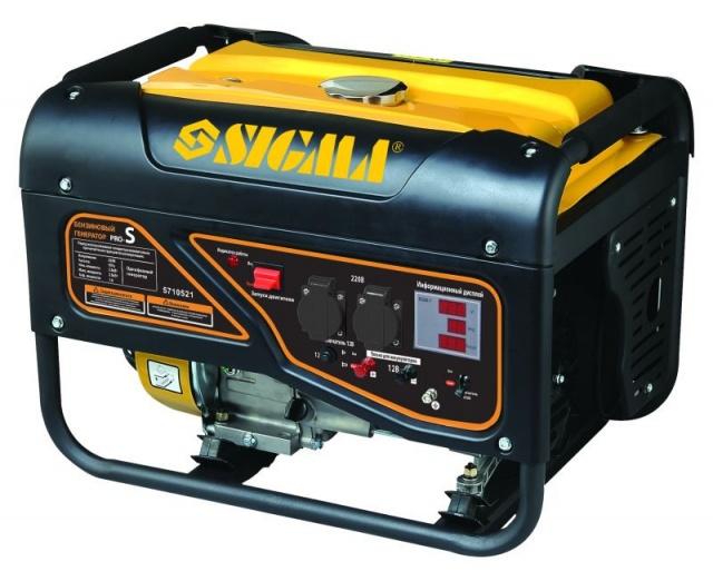 Генератор бензиновый 2.5/2.8кВт 4-х тактный ручной запуск Pro-S sigma 5710521