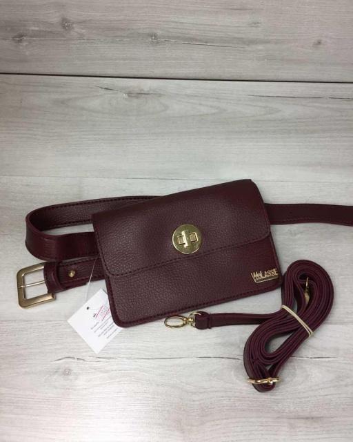7f8454f074f0 Женская сумка на пояс- клатч Арья бордового цвета, цена 345.00 грн ...