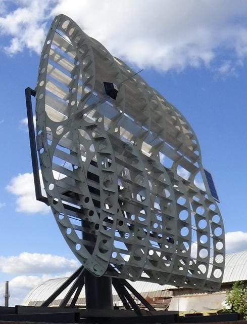 Коллектор солнечного излучения на основе линейного концентратора мощностью до 4кВт