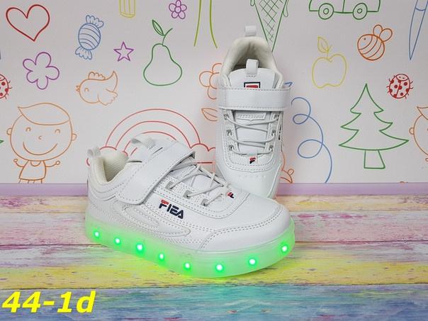 69a6d67c Детские кроссовки Фила с Led подсветкой на подростка, белые, р.34,35 ...