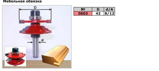 Код товара: 0603. Фреза для мебельной стяжки   (фреза для сращивания, фреза рамочная,фреза комбинированная рамочная)