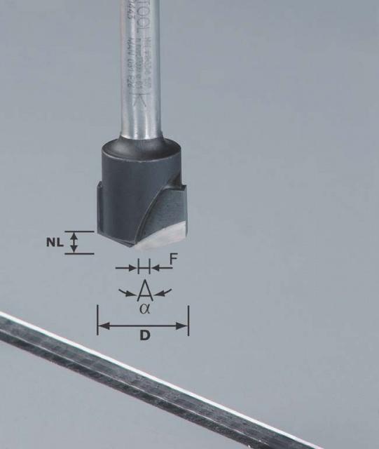 Фреза V-образная HW D18-135GRAD (ALU) пазовая для фрезерования композитных панелей 135 градусов