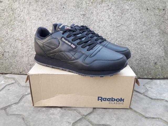 65c7074db Мужские Кроссовки Reebok Classic Leather Black кожаные черные ...