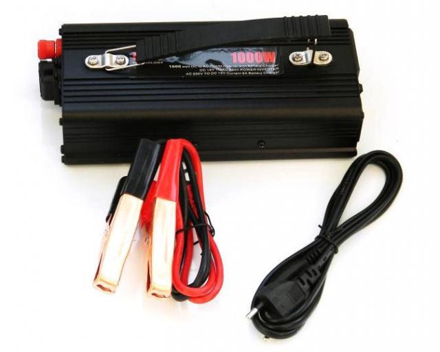 Преобразователь инвертор 12V-220V 1000W с зарядкой