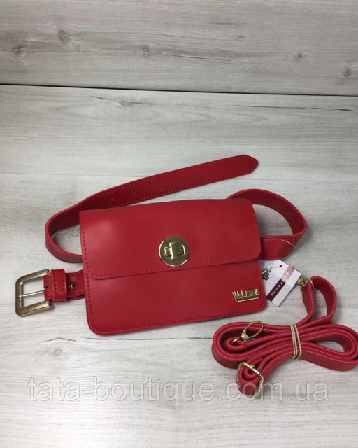 ef4ce7dc Женская сумка на пояс- клатч Арья красного цвета: продажа, цена в ...