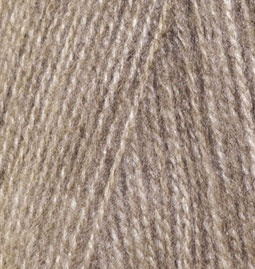 нитки для вязания Alize Angora Real 40 553 коричневый меланж цена