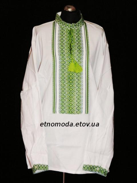 Вишиванка «Святкова» зелена  продажа b0005561db8ec