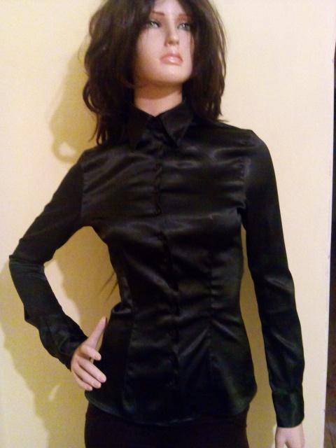 dc35bc7b1e7 Атласная черная рубашка  продажа