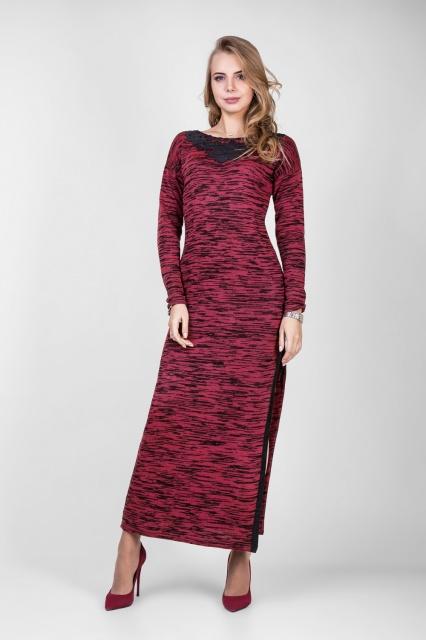 длинное вязаное платье в меланжевых тонах продажа цена в