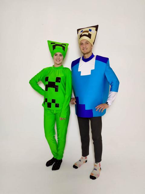 Аниматоры Майнкрафт Крипер и Стив (Minecraft)
