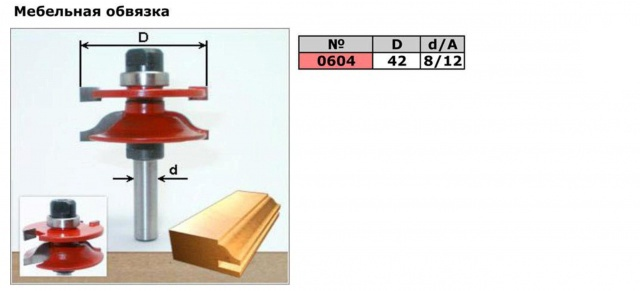 Код товара: 0604.   Фреза для мебельной стяжки (фреза для сращивания, фреза рамочная,фреза комбинированная рамочная)