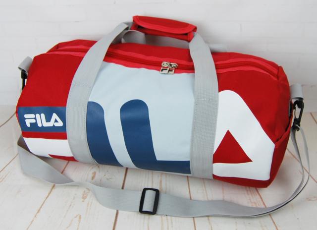 3bede1e60d1d Небольшая красивая спортивная сумка бочонок Fila. Размер 44см на 23  КСС12-1|escape