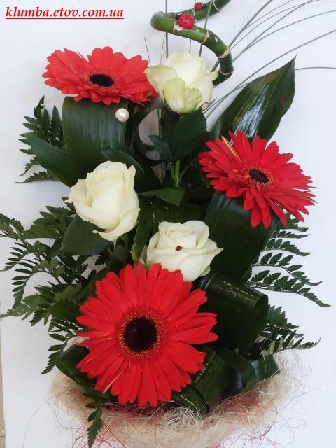Розы и герберы №1