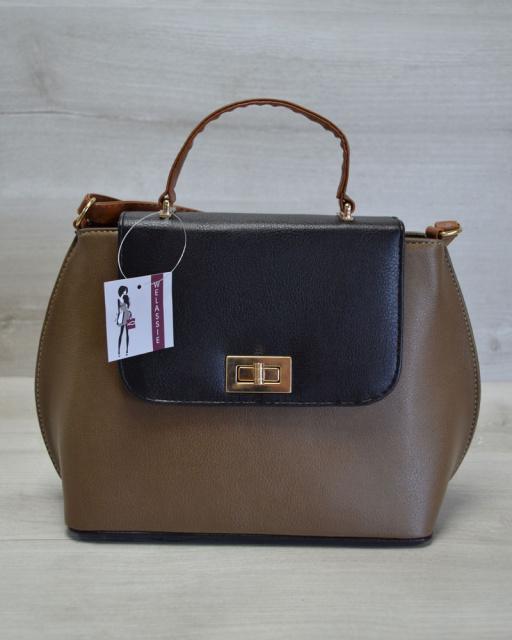 007ad9bed9ce Молодежная женская сумка-клатч кофейный гладкий: продажа, цена в ...