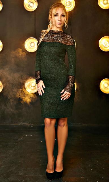 cf6421a016a50d7 Трикотажное платье «Нелли» изумрудного цвета: продажа, цена в ...