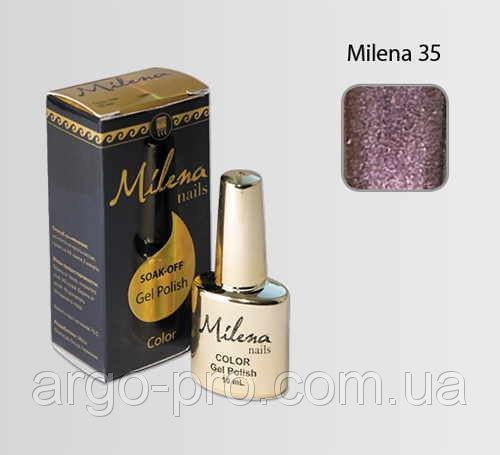 637df47d724d Гель-лак для ногтей «Milena» 35 сиреневый с блестками Арго (бескислотный,