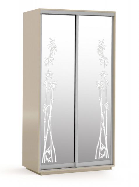 Шафа-купе 2-х дверна 1,2с, фасади: художнє матування (піскоструй)