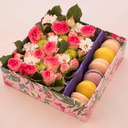 Композиция в коробке «Из Парижа, с любовью!»