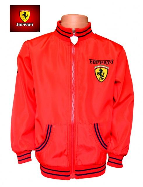1ed84ddd577c15 Куртка ветровка для мальчика «Феррари» детская красная, бренд «Ferrari by  Fila»
