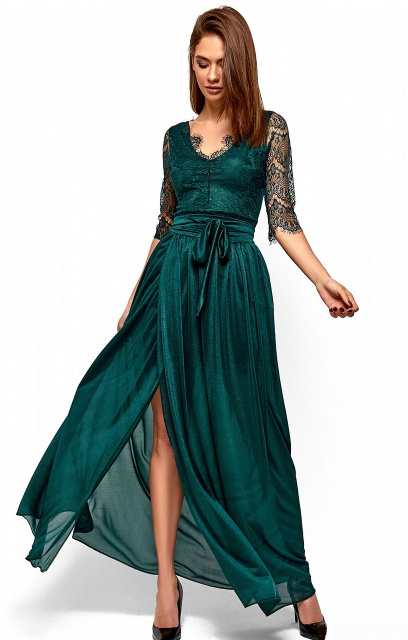 ba3a171ec98 Женское короткое гипюровое платье со съемной шифоновой юбкой
