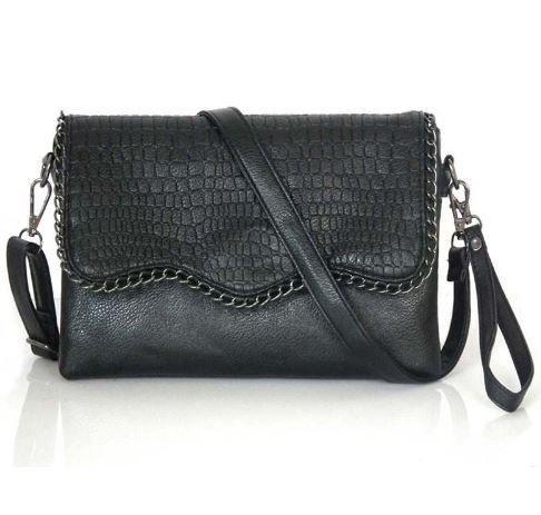 ee974f6d7143 Женская маленькая черная сумка на плечо с цепочкой, цена 520.00 грн ...