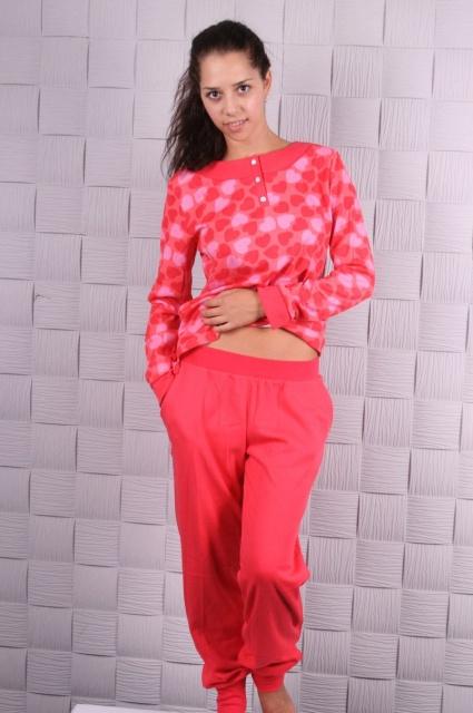 Пижама 374 Коралл сердечки