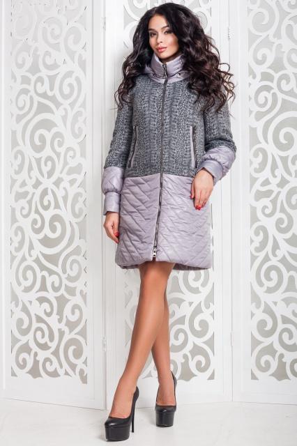 61068f7daea2 Пальто женское демисезонное комбинированное Размер 44-58