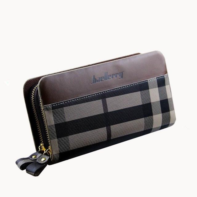fcac05cac655 Мужской клатч портмоне Baellerry Business Style Мужской клатч портмоне на 2  молнии, узор, Коричневый