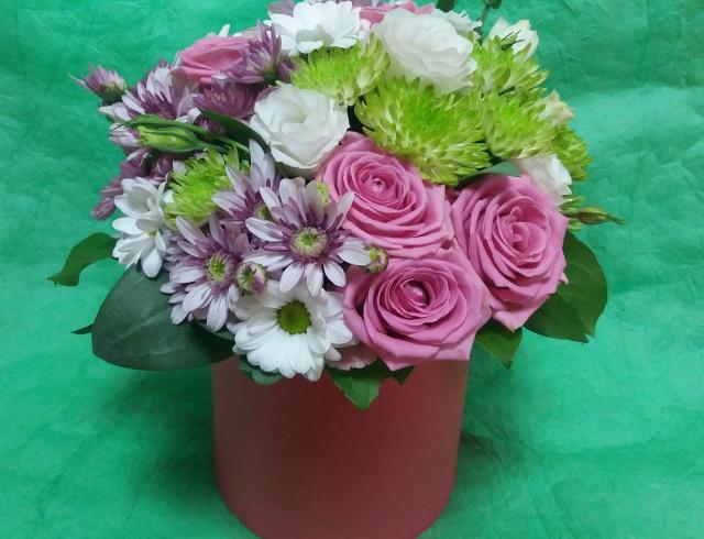 Цветы в коробке «Незабудка»