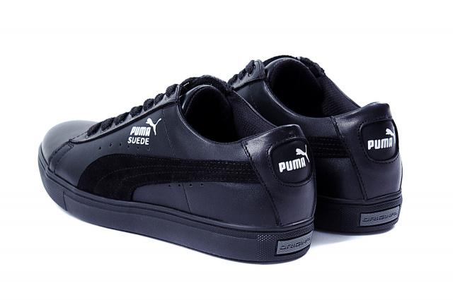 d9151f2285d5 Мужские кожаные кеды Puma SUEDE Black leather. В наличии ― 40,41,42,43,44,45  рр. Материал верха ― натуральная кожа, замша Материал подкладки ― текстиль  ...