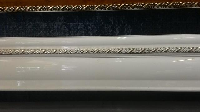 алюминиевый карниз тройной 020. Цвет «Белый»