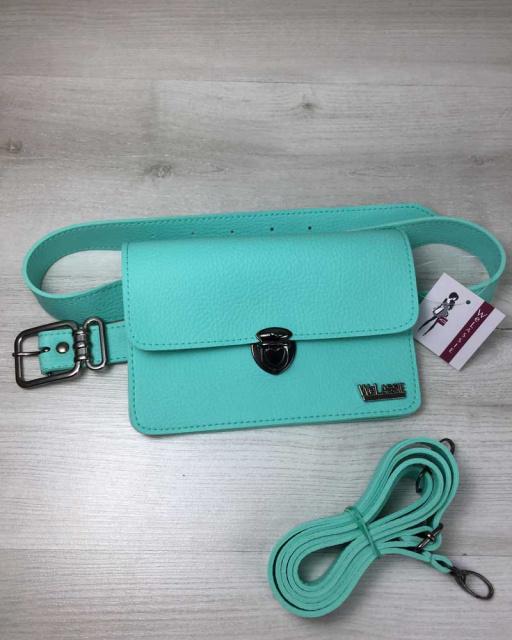 2d4898145cce Женская сумка на пояс- клатч Арья мятного цвета: продажа, цена в ...