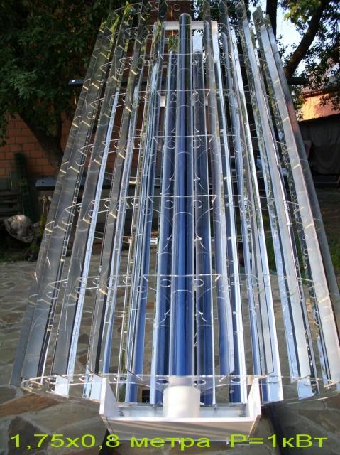 Коллектор солнечного излучения на основе линейного концентратора мощностью 1кВт