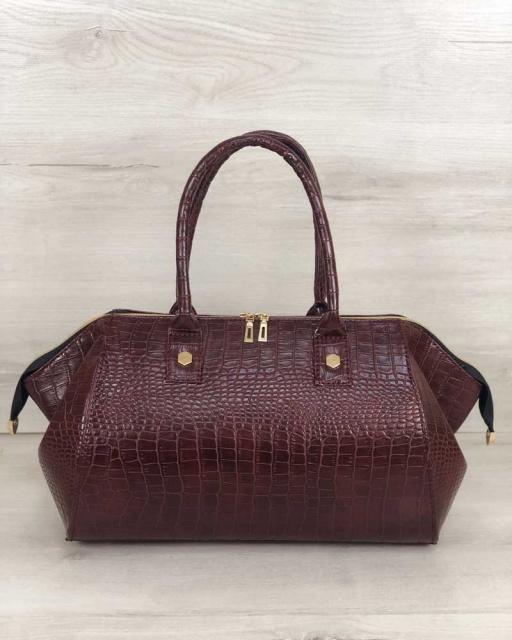 da65b53ce178 Классическая женская сумка Оливия бордовый крокодил: продажа, цена в ...