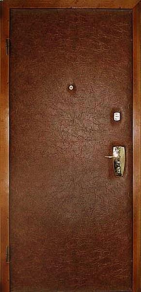 Двери входные из металла,КОЖ ВИНИЛ+МДФ НАКЛАДКА,ОДИН ЛИСТ МЕТАЛЛА.