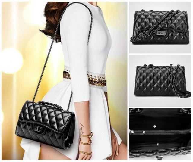 c0e91889739e Женская сумка через плечо шанель на металлической цепочки: продажа ...