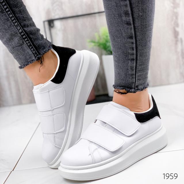 Кроссовки женские Alex белые + черный