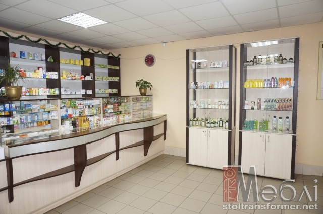 Аптечная мебель. Торговое оборудование