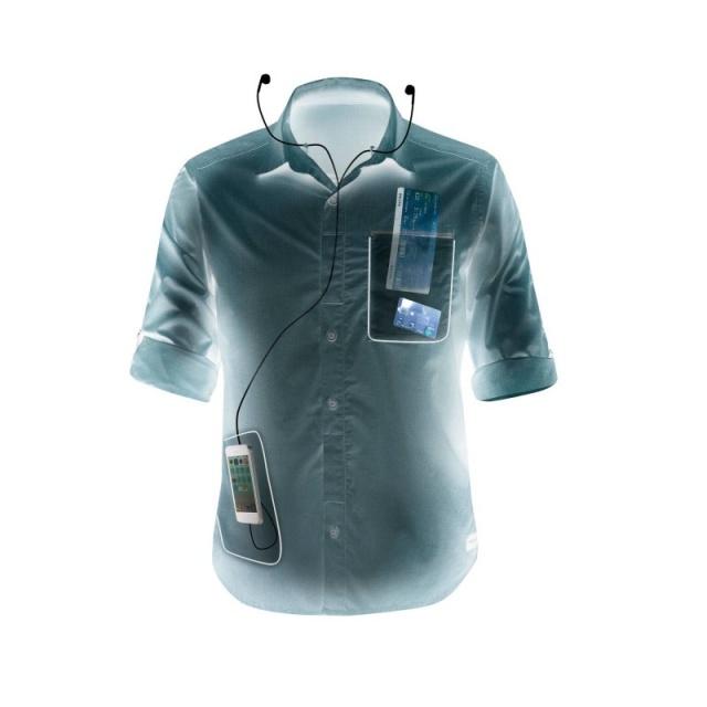 c2463d520ad МОДУЛЬНАЯ РУБАШКА TRAVEL 500 СИНЯЯ FORCLAZ. Для длительных походов и  путешествий. Очень прочная рубашка пригодится вам всюду и при любой погоде!