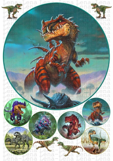 шоу-руме вафельная картинка динозавры драконы был, благодаря