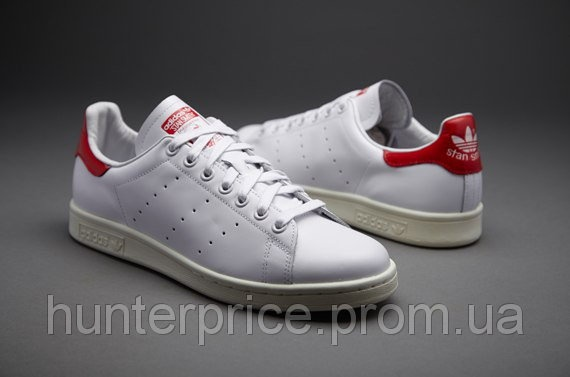 6ede8855 Мужские кроссовки Adidas Stan Smith, красные, размеры 40, 41, 42, 43, 44